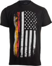 German-American Flag | USA America Germany Heritage Pride Unisex T-Shirt