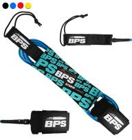 BPS 'Storm' 7.2mm and 8mm Surfboard and SUP Leash/Leg Rope - 5/6/7/8/9/10 Feet Premium Straight Leash with Double Stainless Steel Swivels and Triple Rail Saver (4 Colors)