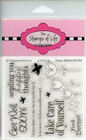 Get-Well Soon Sentiment Sympathy Stamps for Card-Making and Scrapbooking Supplies by The Stamps of Life - GetWell2You