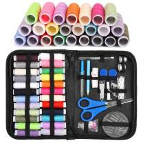 Balight Sewing Kit, Premium Sewing Supplies with 24 XL Spools of Sewing Thread, 30 Sewing Needles, Pins, Tape Measure, Black Case and Sewing Accessories for DIY, Home, Travel, Beginner, Adults (New)