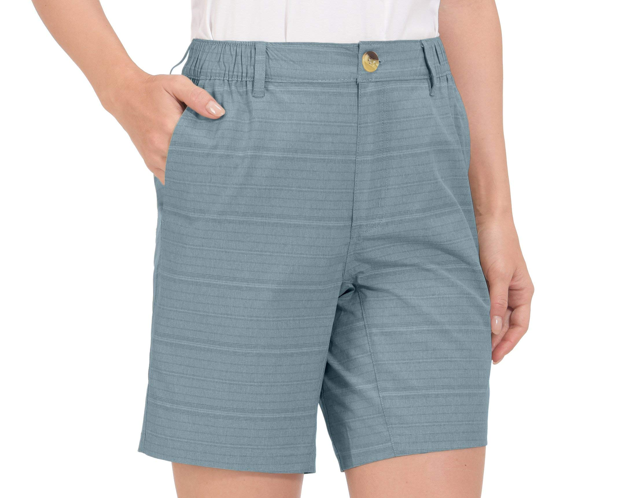 Little Donkey Andy Women's Quick Dry Stretch Bermuda Shorts with Elastic Waist for Golf Hiking
