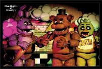 "Trends International Five Nights at Freddy's - Band, 22.375"" x 34"", Black Framed Version"