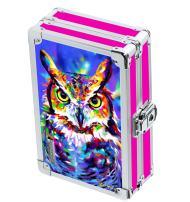 "Vaultz Locking Supplies & Pencil Box with Key Lock, 5""x 2.5""x 8.5"", 3D Owl (VZ03670)"
