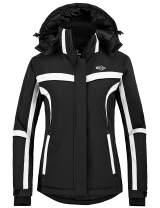 Wantdo Women's Winter Waterproof Ski Jacket Mountain Snow Windproof Rain Coat