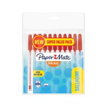 Paper Mate 2005656 InkJoy 50ST Ballpoint Pens, Medium 1mm Point, Red, Pack of 10