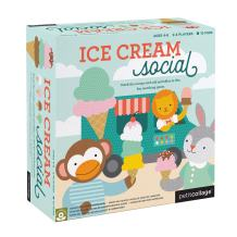 Petit Collage Ice Cream Social: Stack The Scoops and Add Sprinkles in This Fun Matching Card Game