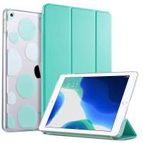 ULAK iPad 7th Generation Case, iPad 10.2 2019 Case, Slim Lightweight Trifold Smart Shell with Translucent Frosted Back Auto Sleep/Wake Premium Shockproof Cover for iPad 10.2 inch, Mint