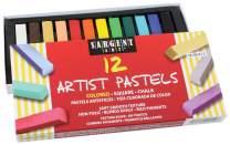Sargent Art 22-4112 Colored Square Chalk Pastels, 12 Count