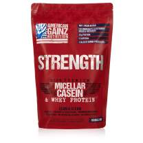 Strength - 100% American Made │ #1 Premium Casein Protein from Idaho Farms│ 5.1 Grams BCAAs│No Fillers - Leanest & Cleanest│Grass Fed Cows