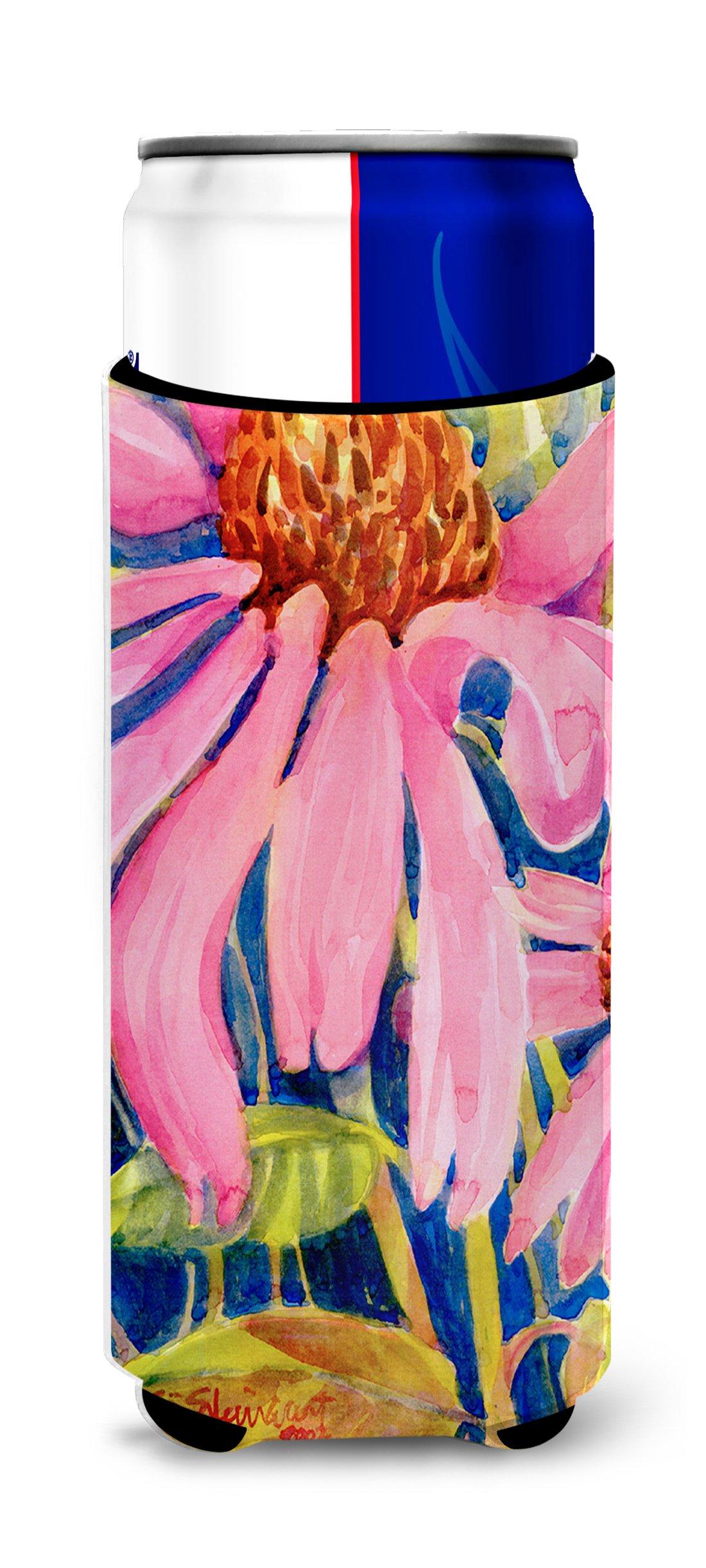 Caroline's Treasures 6027MUK Flower - Coneflower Ultra Beverage Insulators for slim cans, Slim Can, multicolor