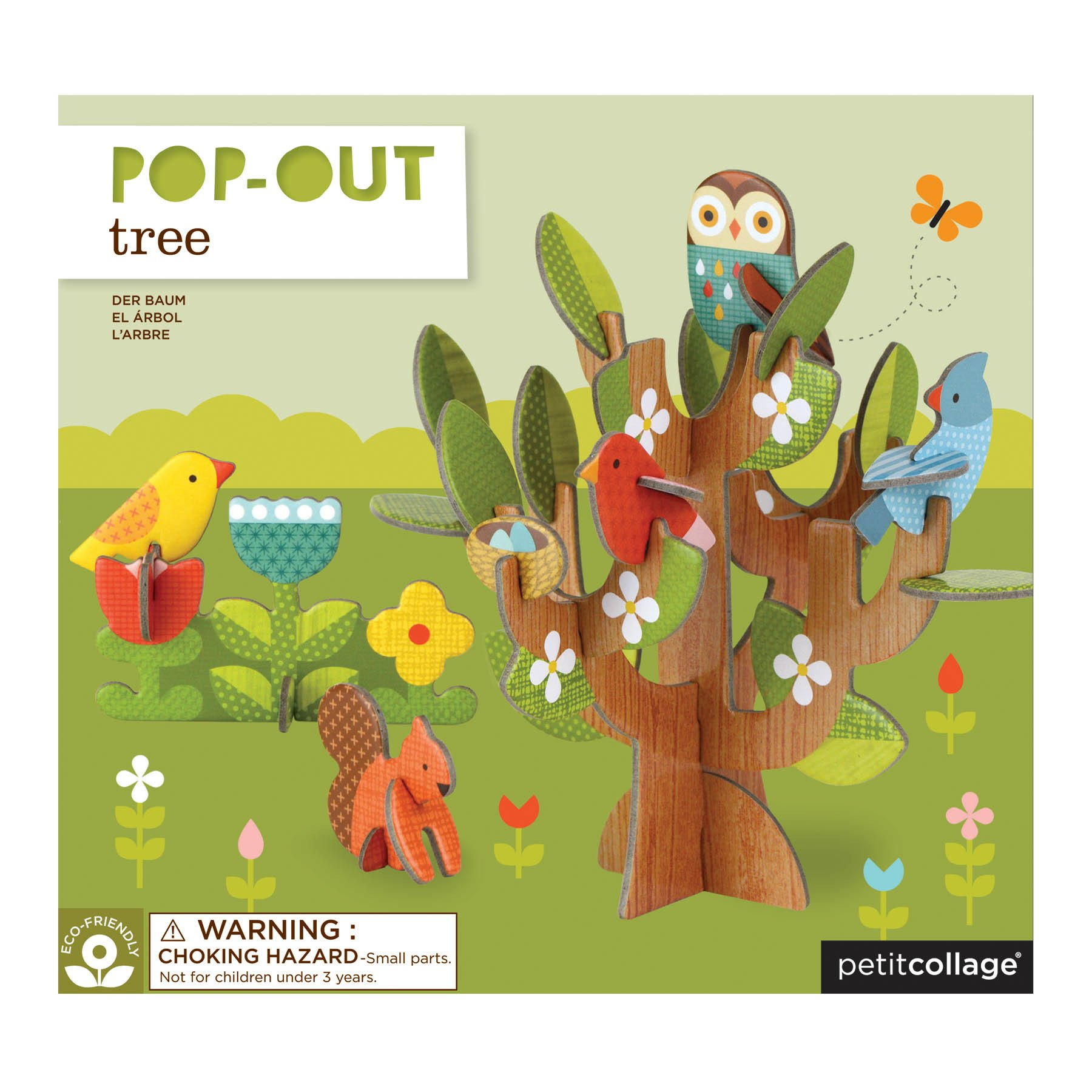 Petit Collage Pop Out, Tree and Animal Friends