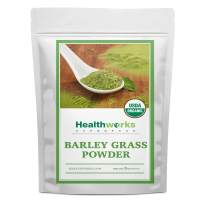 Healthworks Barley Grass Powder (8 Ounces) | Organic & Raw | All-Natural, Vegan & Keto-friendly | Great with Smoothies, Drinks & Juices| Antioxidant & Chlorophyll Rich Superfood