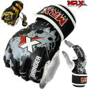 MRX MMA Grappling Gloves Cage Boxing Fight, Snake Design Black/Yellow