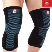 Mava Sports Knee Support Sleeves (Pair) for Joint Pain & Arthritis Relief, Improved Circulation Compression – Effective Support for Running, Jogging, Workout