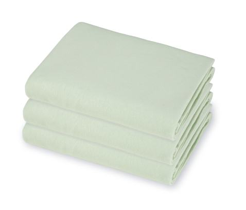 """American Baby Company 100% Cotton Value Jersey Knit Fitted Portable/Mini-Crib Sheet, Celery, 24"""" x 38"""" x 5"""", for Boys and Girls, Pack of 3"""