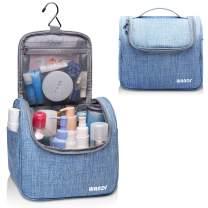Hanging Toiletry Bag Travel Cosmetic Organizer Shower Bathroom Bag for Men Women Water-resistant (Light Blue)