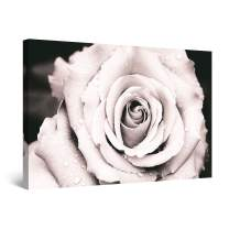 """Startonight Canvas Wall Art Abstract - Dew Drops on The Open Rose Painting - Large Artwork Print for Living Room 32"""" x 48"""""""
