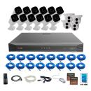 Revo America Ultra 16Ch. 4TB HDD 4K IP NVR Security System - Fixed Lens IP Cameras 12 x 4MP Audio Bullet Cameras & 4 x 4MP Turret Cameras - Remote Access via Smart Phone, Tablet, PC & MAC