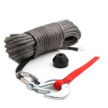 """Offroading Gear 95'x3/8"""" Synthetic Winch Rope Kit w/Snap Hook and Rubber Stopper for 4x4/ATV/UTV/Jeep"""