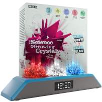 Dan & Darci Premium Remote Controlled Light-up Crystal Growing Kit Clock - Grow Your Own Crystals and Make Them Glow! Great Science Expirement Gift for Kids, Boys & Girls   STEM Toys   Crystal Making
