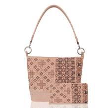 Montana West Concealed Carry Hobo Shoulder Purse Western Embroidered Floral Rhinestone Black Vegan Leather handbag