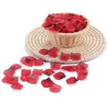2000 PCS Dark Red Silk Rose Petals Artificial Flower Wedding Party Flower Decoration for Romantic Night Valentine Day (Dark Red, 2000 pcs)