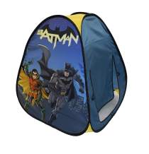 Sunny Days Entertainment Batman Pop Up Play Tent – Blue Indoor Playhouse for Kids   DC Gift for Boys and Girls