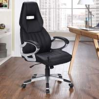 LCH Ergonomic Office Desk Chair Leather High Back Computer Desk Chair with Lumbar Support, Black
