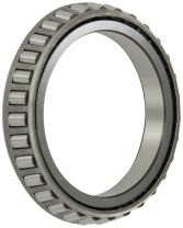 """Timken LL510749 Tapered Roller Bearing, Single Cone, Standard Tolerance, Straight Bore, Steel, Inch, 2.5000"""" ID, 0.5000"""" Width"""