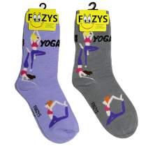 Foozys Womens Crew Socks | Fun Cool Sports Themed Fashion Novelty Socks | 2 Pair