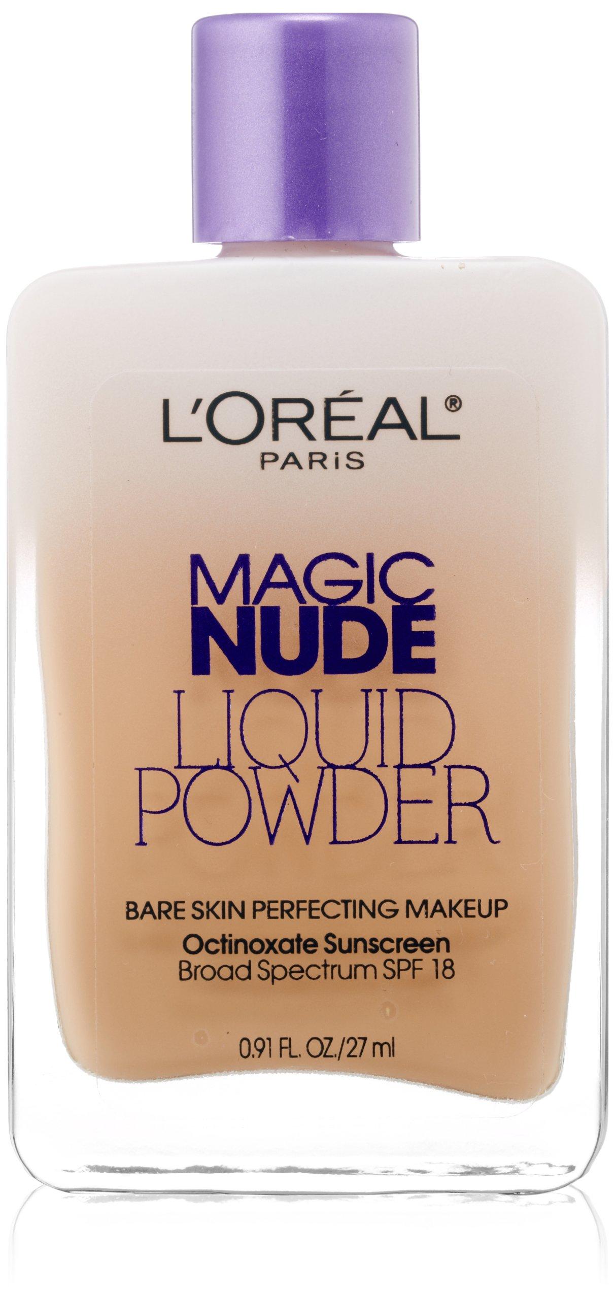 L'Oreal Paris Magic Nude Liquid Powder Bare Skin Perfecting Makeup SPF 18, Classic Ivory, 0.91 Ounces