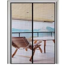 Magnetic Screen Door 72×80 Mesh Curtain Front Door Screen ,Heavy Duty,Fiberglass Screen Door with Full Frame Hook&Loop Fits Door Size up to 72x80 Inch Max,Grey
