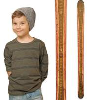 Growth Chart Art   Wooden Ski Growth Chart   Baby Skis   Ski Gifts   Wall Hanging Wood Height Chart for Measuring Kids, Children, Boys, Girls   Olive Green