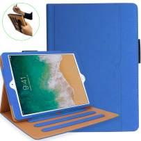 iPad 7th Generation Case, iPad 10.2 Case with Pencil Holder - Multi-Angle Stand, Hand Strap, Auto Sleep/Wake for iPad 7th Gen, iPad 10.2 2019(Blue)