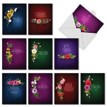 Many Thanks - 10 Assorted All Occasion Thank You Cards with Envelopes (4 x 5.12 Inch) - Boxed Blank Notecard Stationery - Assortment of Gratitude, Thank Yous, Appreciation Greetings AM6842TYB-B1x10