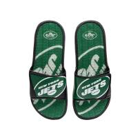FOCO Men's Sport Shower Flip Flop Sandals Miami Dolphins NFL Colorblock Big Logo Gel Slides-L