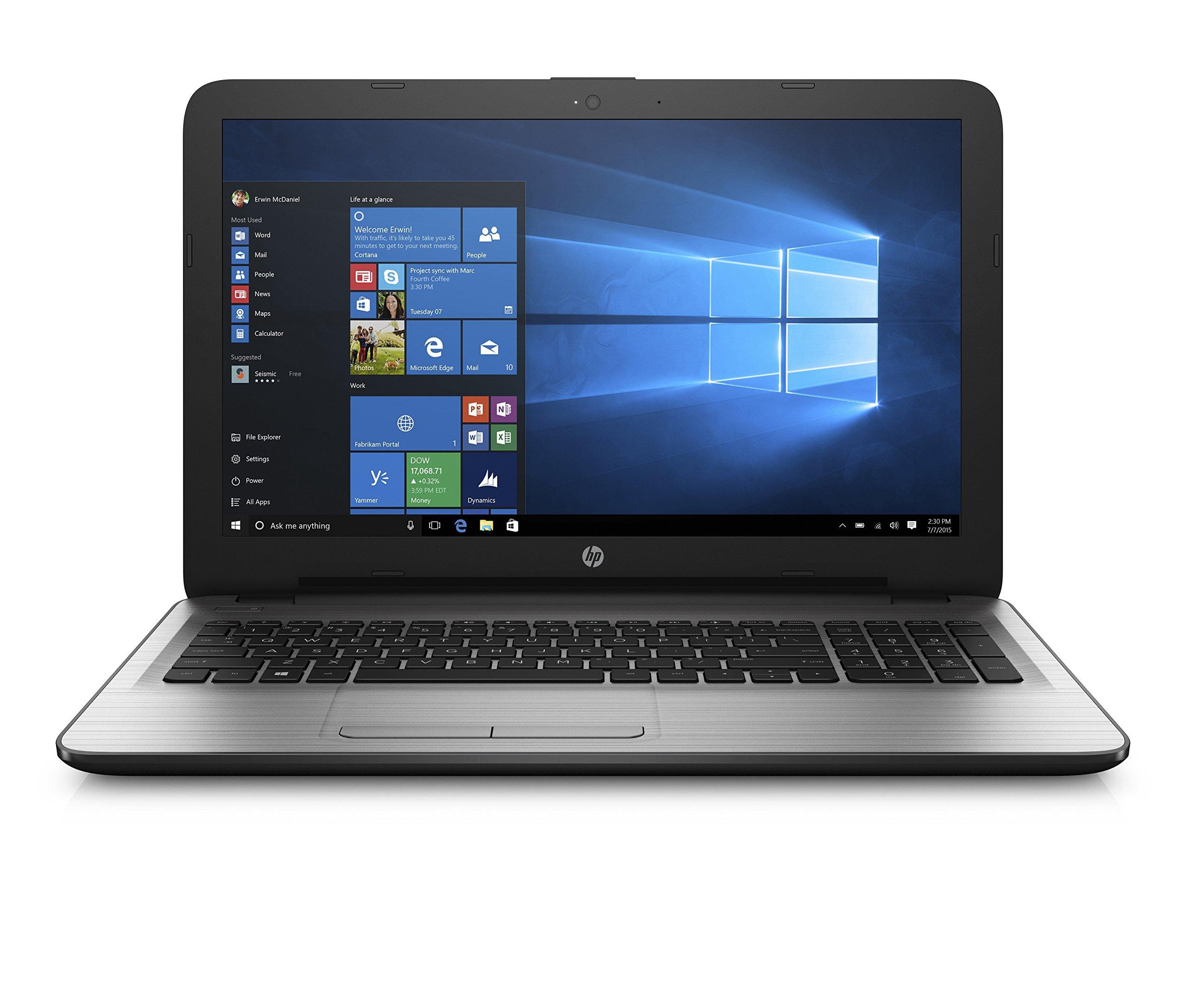 "HP 15-ay010nr 15.6"" HD Laptop (Intel Pentium N3710, 4GB RAM, 1TB HDD) with Windows 10"
