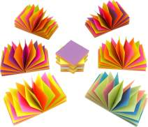 4A Magic Cyclic Pop-up Sticky Notes,4 Neon Color Assorted, Each Color Sheets Cyclic,Self-Stick Notes,3 x 3 Inches,100 Sheets/Pad,12 Pads/Box,4A 303M-PN-Zx12