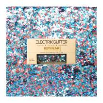 Biodegradable Glitter Chunky Glitter for Festivals. Eco Friendly Body Glitter for Hair Glitter, Nail Glitter, Face Eyeshadow glitter, Rave accessories, Holographic glitter makeup (Blue Pink)