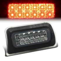 Smoked Housing Dual Row LED 3rd Third Tail Brake Light Lamp Replacement for Chevy S10 GMC Sonoma Standard Cab 94-03