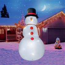 Holidayana 15 Ft. Giant Inflatable Christmas Snowman Featuring Lighted Interior/Airblown Inflatable Christmas Decoration with Built in Fan and Anchor Ropes