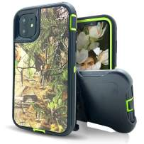 iPhone 11 Pro Max Case with Belt Clip,Vodico Heavy Duty Shockproof Military Grade Defender Camo Holster with Kickstand Non Slip Scratch Resistant Silicone Bumper Cases for iPhone 11 Pro Max (F Green)