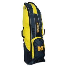 Team Golf NCAA Travel Golf Bag, High-Impact Plastic Wheelbase, Smooth & Quite Transport, Includes Built-in Shoe Bag, Internal Padding, & ID Card Holder