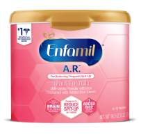 Enfamil A.R. Infant Formula - Clinically Proven to Reduce Spit-Up in 1 week - Reusable Powder Tub, 19.5 oz Omega 3 DHA & Iron, Thickened with Rice Starch(Package May Vary)