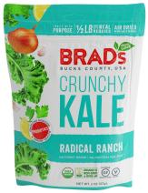Brad's Plant Based Organic Crunchy Kale, Radical Ranch with Probiotics, 3 Count