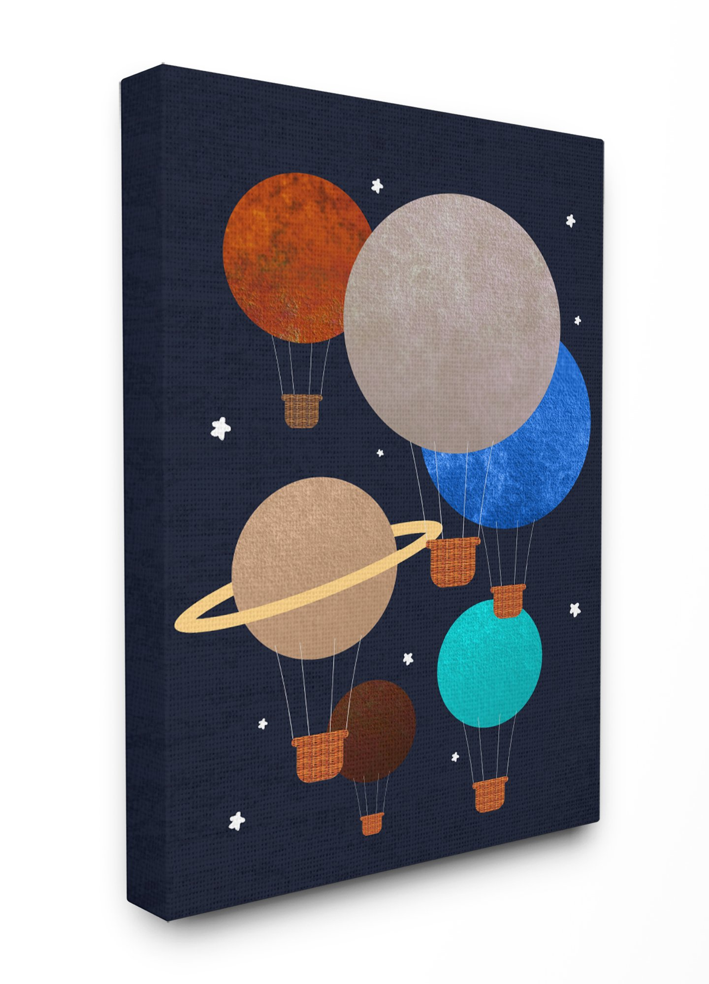 Stupell Industries Hot Air Balloon Planets Oversized Stretched Canvas Wall Art, Proudly Made in USA