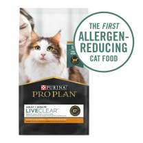 Purina Pro Plan LiveClear With Probiotics Allergen Reducing Adult Dry Cat Food & Cat Shampoo