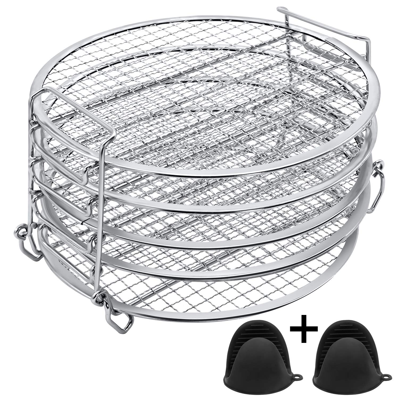Dehydrator Rack Dehydrator Stand Foodi - Dehydrator Rack for Ninja Foodi Pressure Cooker and Air Fryer 6.5 & 8 qt, Food Grade Stainless Steel
