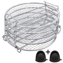 Dehydrator Rack Dehydrator Stand Foodi - Dehydrator Rack for Ninja Foodi Pressure Cooker and Air Fryer 6.5 & 8 qt, Food Grade Stainless Steel