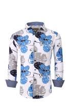 Flash Apparel Premiere Men Floral Dress Shirts Long Sleeve Casual Button Down Flower Hawaiian Printed Shirts
